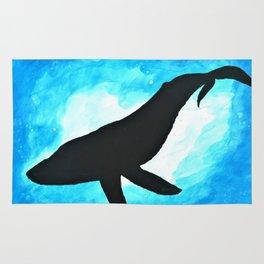Deep Sea Whale Silhouette Rug