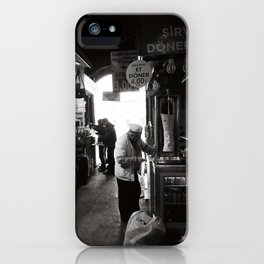 Man Selling Meat On A Stick iPhone Case