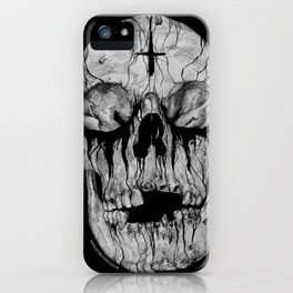 Black blooded iPhone Case