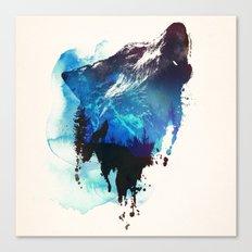 mountain wolf Canvas Print