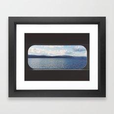 Ferry Window Framed Art Print