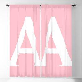A MONOGRAM (WHITE & PINK) Blackout Curtain