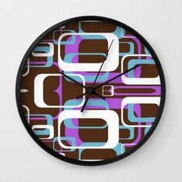 Retro Circle Squares Wall Clock