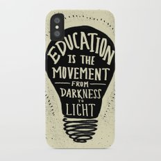 Education: Darkness to Light iPhone X Slim Case