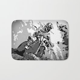 Motocross Dirt-Bike Championship Racer Bath Mat
