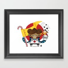 Chestnut + Kiiroihankachi cause we will not forget!!! Framed Art Print