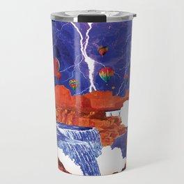 Thunderstorms Over Red Canyon Travel Mug