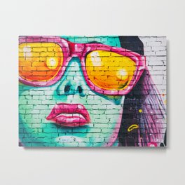 Graffiti girl Metal Print
