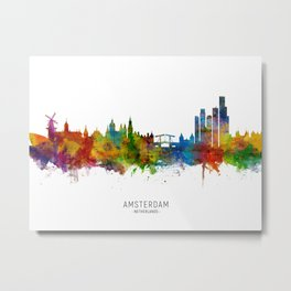 Amsterdam The Netherlands Skyline Metal Print
