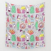supernatural Wall Tapestries featuring Yokai / Japanese Supernatural Monsters by Kimiaki Yaegashi