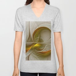Abstract With Colors Of Precious Metals 2 Unisex V-Neck