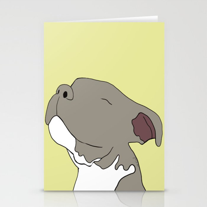 Sunny The Pitbull Puppy Stationery Cards
