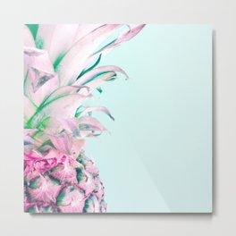 Pastel Pineapple Metal Print