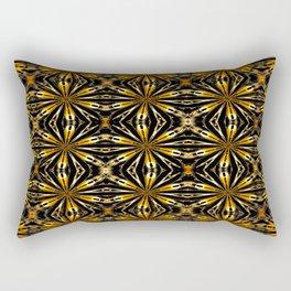 Floral motive gold Rectangular Pillow