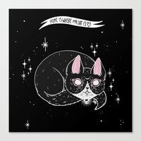 loll3 Canvas Prints featuring Home is where my Cat is by lOll3