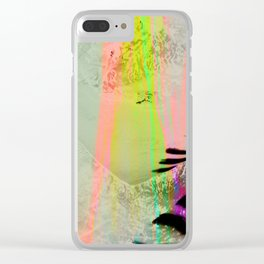 Abstract landscape sweep neon Clear iPhone Case
