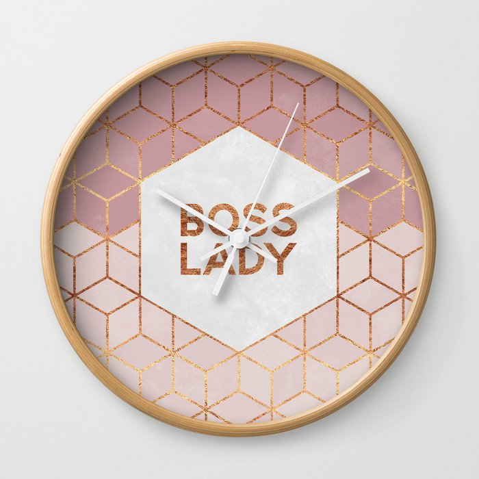 Boss Lady / 2 Wall Clock