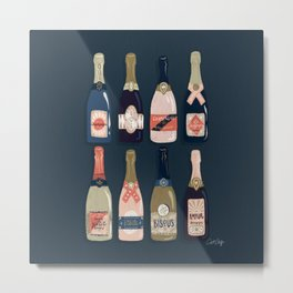 French Champagne Collection – Teal Metal Print