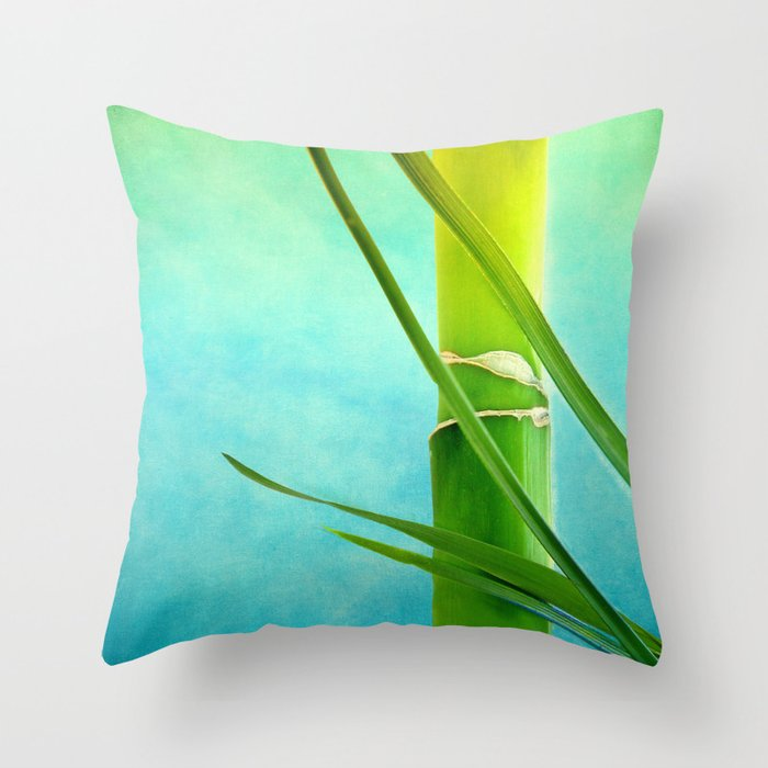 WELLNESS BAMBOO Throw Pillow