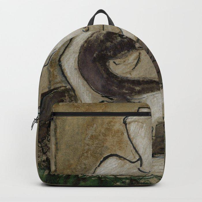 Leda and the swan Backpack