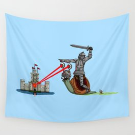 The Knight and the Snail - Random edition Wall Tapestry