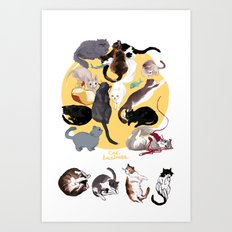 Cat Business Art Print