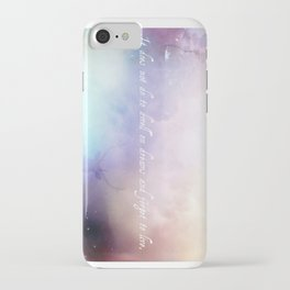 It does not do to dwell on dreams iPhone Case
