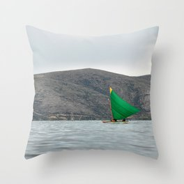 Titicaca sail 2 Throw Pillow