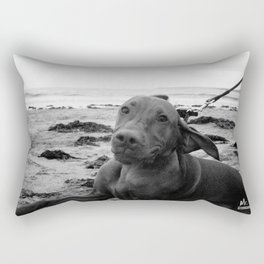 PAWPRINTS IN THE SAND Rectangular Pillow