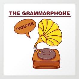 The Grammarphone - Funny Gramophone Wordplay Art Print