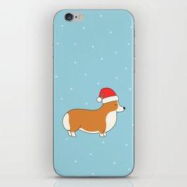 Santa Corgi iPhone Skin