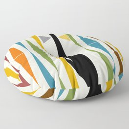 Mid-Century Modern Art Cat 2 Floor Pillow