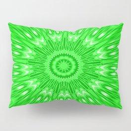 Green Mandala Explosion Pillow Sham