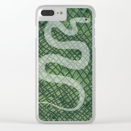 Snakeskin and snake Clear iPhone Case
