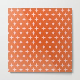 Peach and Pink Sparkle Pattern Metal Print