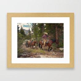 HEAVY RIDER Framed Art Print