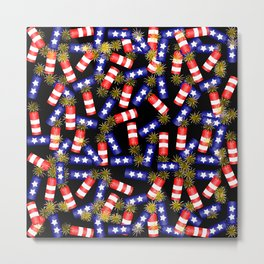 Firecracker Celebration Metal Print
