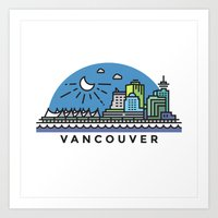 vancouver Art Prints featuring Vancouver by Campbell Graphix