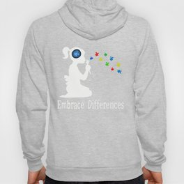Autism Embrace Differences T-Shirt for Women and Girls Hoody