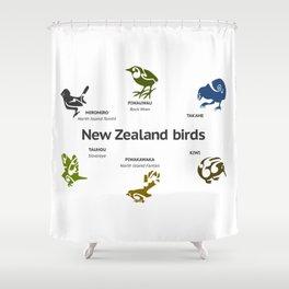 New Zealand Birds Shower Curtain