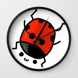 Ladybug Bby | Veronica Nagorny Wall Clock