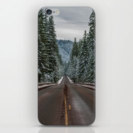 Winter Road Trip - Pacific Northwest Nature Photography iPhone Skin