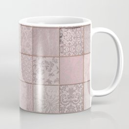 Romantic Pink Damask Patchwork Pattern Coffee Mug