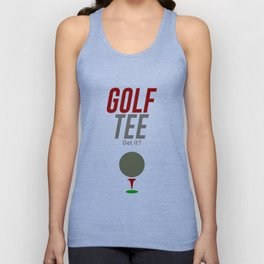 Golf Tee Pun Golfing Game Swing Ball Unisex Tank Top