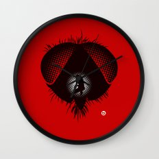The Fly (Red Collection) Wall Clock