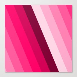pink side fade pattern Canvas Print