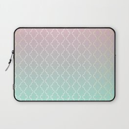 Moroccan pattern with mint, pink and gold Laptop Sleeve