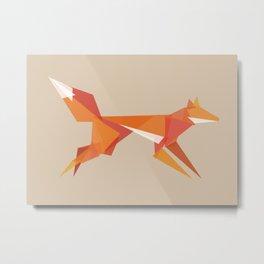 Fractal geometric fox Metal Print