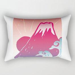 Red Mt.Fuji Rectangular Pillow