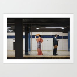 Ladies Who Commute II Art Print